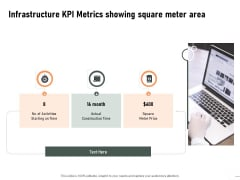 Construction Production Facilities Infrastructure KPI Metrics Showing Square Meter Area Rules PDF