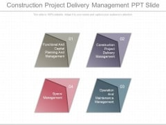 Construction Project Delivery Management Ppt Slide
