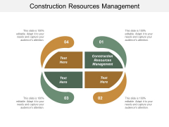Construction Resources Management Ppt PowerPoint Presentation Infographics Slide Download Cpb