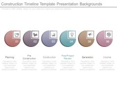 Construction Timeline Template Presentation Backgrounds