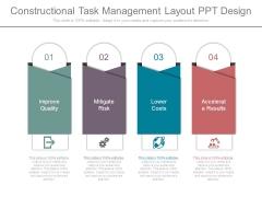 Constructional Task Management Layout Ppt Design