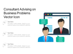 Consultant Advising On Business Problems Vector Icon Ppt PowerPoint Presentation Gallery Brochure PDF