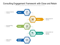 Consulting Engagement Framework With Close And Retain Ppt PowerPoint Presentation Ideas Deck PDF