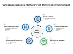 Consulting Engagement Framework With Planning And Implementation Ppt PowerPoint Presentation Slides Ideas PDF