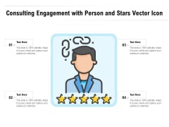 Consulting Engagement With Person And Stars Vector Icon Ppt PowerPoint Presentation Outline Mockup PDF