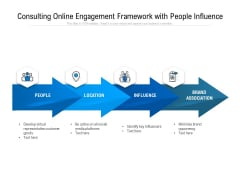 Consulting Online Engagement Framework With People Influence Ppt PowerPoint Presentation Professional Structure PDF