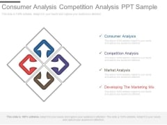 Consumer Analysis Competition Analysis Ppt Sample