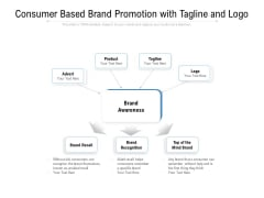 Consumer Based Brand Promotion With Tagline And Logo Ppt PowerPoint Presentation Icon Graphics Design