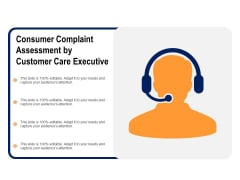 Consumer Complaint Assessment By Customer Care Executive Ppt PowerPoint Presentation Professional Example PDF