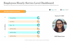 Consumer Complaint Handling Process Employees Hourly Service Level Dashboard Ppt Summary Inspiration PDF