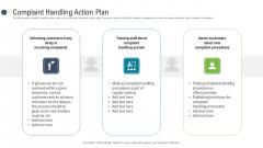 Consumer Complaint Procedure Complaint Handling Action Plan Ppt Pictures Visuals PDF