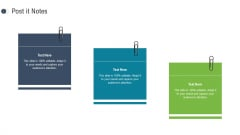 Consumer Complaint Procedure Post It Notes Ppt Show Graphics Template PDF