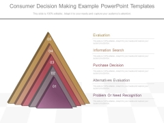 Consumer Decision Making Example Powerpoint Templates