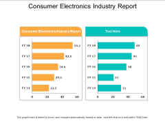 Consumer Electronics Industry Report Ppt PowerPoint Presentation Model Elements Cpb