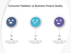 Consumer Feedback On Business Product Quality Ppt PowerPoint Presentation File Example Topics PDF