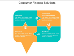 Consumer Finance Solutions Ppt Powerpoint Presentation File Picture Cpb