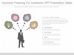Consumer Financing For Contractors Ppt Presentation Slides