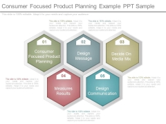 Consumer Focused Product Planning Example Ppt Sample