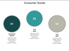 Consumer Goods Ppt PowerPoint Presentation Portfolio Shapes Cpb
