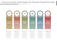 Consumer Goods Social Media Tool Example Powerpoint Ideas
