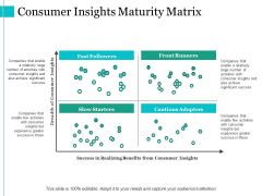 Consumer Insights Maturity Matrix Ppt PowerPoint Presentation Gallery Example