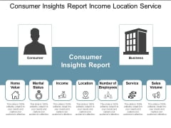 Consumer Insights Report Income Location Service Ppt PowerPoint Presentation Styles Layout Ideas
