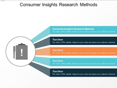 Consumer Insights Research Methods Ppt PowerPoint Presentation Outline Design Templates Cpb