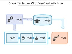 Consumer Issues Workflow Chart With Icons Ppt PowerPoint Presentation Summary File Formats PDF