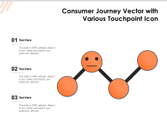 Consumer Journey Vector With Various Touchpoint Icon Ppt PowerPoint Presentation File Rules PDF