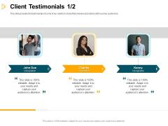 Consumer Lending Procedure Client Testimonials Teamwork Ppt Icon Files PDF