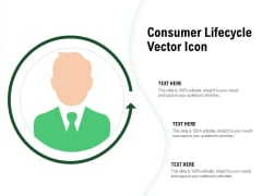 Consumer Lifecycle Vector Icon Ppt PowerPoint Presentation Model Ideas