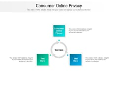 Consumer Online Privacy Ppt PowerPoint Presentation Styles Guide Cpb Pdf