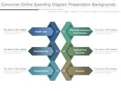Consumer Online Spending Diagram Presentation Backgrounds