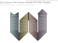 Consumer Path Analysis Template Ppt Slide Template