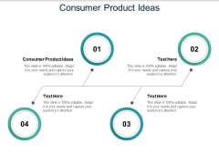 Consumer Product Ideas Ppt PowerPoint Presentation Outline Icons Cpb