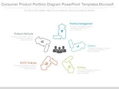 Consumer Product Portfolio Diagram Powerpoint Templates Microsoft