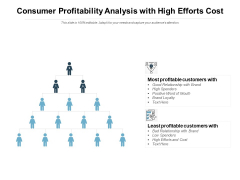 Consumer Profitability Analysis With High Efforts Cost Ppt PowerPoint Presentation Summary Infographics