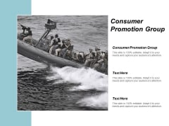 Consumer Promotion Group Ppt Powerpoint Presentation Ideas Picture Cpb