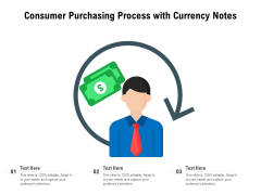 Consumer Purchasing Process With Currency Notes Ppt PowerPoint Presentation File Clipart Images PDF