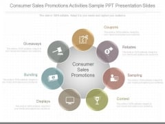 Consumer Sales Promotions Activities Sample Ppt Presentation Slides