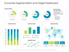 Consumer Segmentation And Target Dashboard Ppt PowerPoint Presentation Gallery Influencers PDF