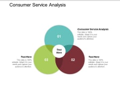 Consumer Service Analysis Ppt PowerPoint Presentation Ideas Maker Cpb