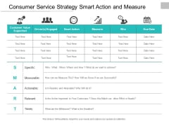 Consumer Service Strategy Smart Action And Measure Ppt Powerpoint Presentation Influencers