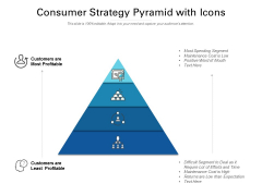 Consumer Strategy Pyramid With Icons Ppt PowerPoint Presentation Background Designs