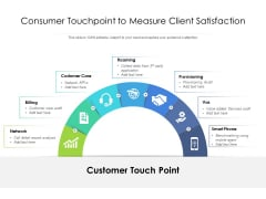 Consumer Touchpoint To Measure Client Satisfaction Ppt PowerPoint Presentation File Grid PDF