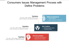 Consumers Issues Management Process With Define Problems Ppt PowerPoint Presentation Show Display PDF