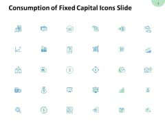 Consumption Of Fixed Capital Icons Slide Magnifying Glass Ppt PowerPoint Presentation File Visuals