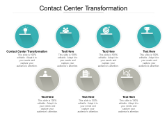 Contact Center Transformation Ppt PowerPoint Presentation Layouts Cpb Pdf