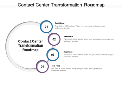 Contact Center Transformation Roadmap Ppt PowerPoint Presentation Infographic Template Structure Cpb Pdf