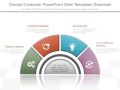 Contact Customer Powerpoint Slide Templates Download